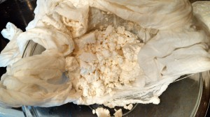 IMG_20140605_200311_574Kefir Cheese in Cheesecloth